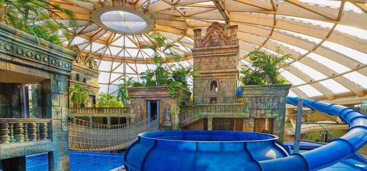 Family Summer vacation in Budapest in an indoor water park Hotel